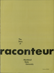 Page 5, 1968 Edition, Morehead State University - Raconteur Yearbook (Morehead, KY) online yearbook collection