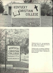Page 8, 1968 Edition, Kentucky Christian University - Marturian Yearbook (Grayson, KY) online yearbook collection