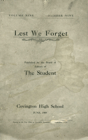 1909 Edition, Covington High School - Lest We Forget Yearbook (Covington, KY)