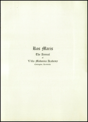 Page 7, 1927 Edition, Villa Madonna Academy - Ros Maris Yearbook (Villa Hills, KY) online yearbook collection