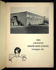 Page 3, 1963 Edition, Lafayette Junior High School - Yearbook (Lexington, KY) online yearbook collection
