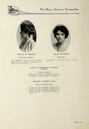 Page 16, 1921 Edition, Kentucky College for Women - Daisy Yearbook (Danville, KY) online yearbook collection