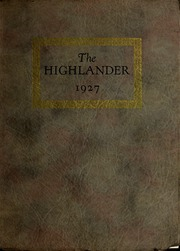 Page 1, 1927 Edition, Pikeville College - Highlander Yearbook (Pikeville, KY) online yearbook collection