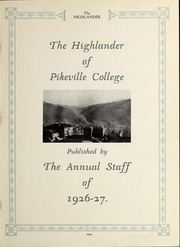 Page 3, 1927 Edition, Pikeville College - Highlander Yearbook (Pikeville, KY) online yearbook collection