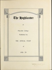 Page 5, 1929 Edition, Pikeville College - Highlander Yearbook (Pikeville, KY) online yearbook collection