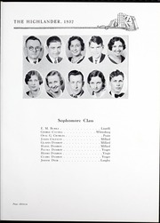 Page 17, 1932 Edition, Pikeville College - Highlander Yearbook (Pikeville, KY) online yearbook collection