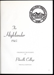 Page 7, 1945 Edition, Pikeville College - Highlander Yearbook (Pikeville, KY) online yearbook collection
