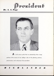 Page 13, 1949 Edition, Pikeville College - Highlander Yearbook (Pikeville, KY) online yearbook collection