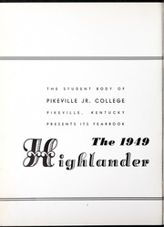 Page 6, 1949 Edition, Pikeville College - Highlander Yearbook (Pikeville, KY) online yearbook collection
