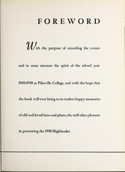 Page 7, 1950 Edition, Pikeville College - Highlander Yearbook (Pikeville, KY) online yearbook collection