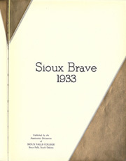 Page 7, 1933 Edition, Sioux Falls College - Sioux Brave Yearbook (Sioux Falls, SD) online yearbook collection