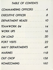Page 7, 1985 Edition, Inchon (LPH 12) - Naval Cruise Book online yearbook collection
