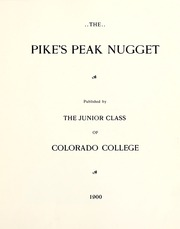 Page 9, 1900 Edition, Colorado College - Nugget Yearbook (Colorado Springs, CO) online yearbook collection