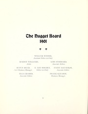 Page 12, 1901 Edition, Colorado College - Nugget Yearbook (Colorado Springs, CO) online yearbook collection