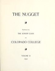 Page 7, 1901 Edition, Colorado College - Nugget Yearbook (Colorado Springs, CO) online yearbook collection