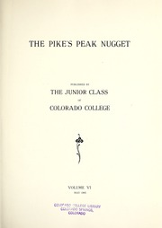 Page 7, 1905 Edition, Colorado College - Nugget Yearbook (Colorado Springs, CO) online yearbook collection