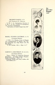 Page 67, 1907 Edition, Colorado College - Nugget Yearbook (Colorado Springs, CO) online yearbook collection