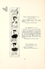 Page 68, 1907 Edition, Colorado College - Nugget Yearbook (Colorado Springs, CO) online yearbook collection