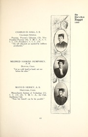 Page 69, 1907 Edition, Colorado College - Nugget Yearbook (Colorado Springs, CO) online yearbook collection