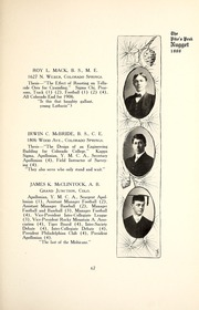 Page 71, 1907 Edition, Colorado College - Nugget Yearbook (Colorado Springs, CO) online yearbook collection