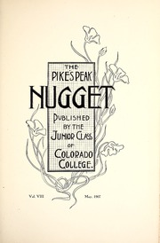 Page 9, 1907 Edition, Colorado College - Nugget Yearbook (Colorado Springs, CO) online yearbook collection