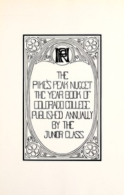 Page 11, 1914 Edition, Colorado College - Nugget Yearbook (Colorado Springs, CO) online yearbook collection