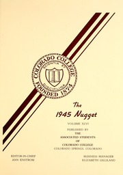 Page 5, 1945 Edition, Colorado College - Nugget Yearbook (Colorado Springs, CO) online yearbook collection