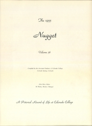 Page 5, 1955 Edition, Colorado College - Nugget Yearbook (Colorado Springs, CO) online yearbook collection