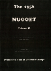 Page 5, 1956 Edition, Colorado College - Nugget Yearbook (Colorado Springs, CO) online yearbook collection