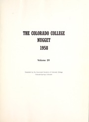 Page 5, 1958 Edition, Colorado College - Nugget Yearbook (Colorado Springs, CO) online yearbook collection