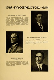 Page 13, 1915 Edition, Colorado School of Mines - Prospector Yearbook (Golden, CO) online yearbook collection