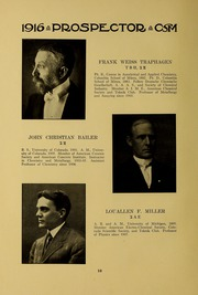 Page 14, 1915 Edition, Colorado School of Mines - Prospector Yearbook (Golden, CO) online yearbook collection