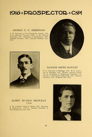 Page 15, 1915 Edition, Colorado School of Mines - Prospector Yearbook (Golden, CO) online yearbook collection