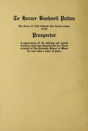 Page 6, 1915 Edition, Colorado School of Mines - Prospector Yearbook (Golden, CO) online yearbook collection