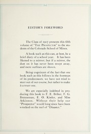 Page 11, 1917 Edition, Colorado School of Mines - Prospector Yearbook (Golden, CO) online yearbook collection