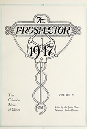 Page 9, 1917 Edition, Colorado School of Mines - Prospector Yearbook (Golden, CO) online yearbook collection