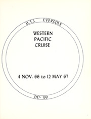 Page 5, 1967 Edition, Eversole (DD 789) - Naval Cruise Book online yearbook collection