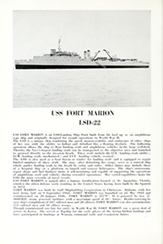 Page 8, 1964 Edition, Fort Marion (LSD 22) - Naval Cruise Book online yearbook collection