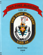 Fort McHenry (LSD 43) - Naval Cruise Book online yearbook collection, 1988 Edition, Page 1