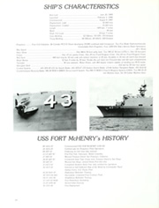 Fort McHenry (LSD 43) - Naval Cruise Book online yearbook collection, 1988 Edition, Page 18