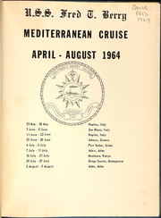 Page 3, 1964 Edition, Fred Berry (DDE 858) - Naval Cruise Book online yearbook collection