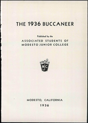 Page 9, 1936 Edition, Modesto Junior College - Buccaneer Yearbook (Modesto, CA) online yearbook collection