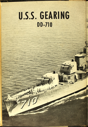 Page 6, 1958 Edition, Gearing (DD 710) - Naval Cruise Book online yearbook collection