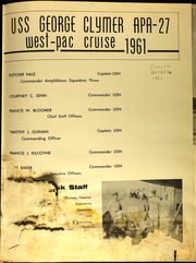 Page 5, 1961 Edition, George Clymer (APA 27) - Naval Cruise Book online yearbook collection
