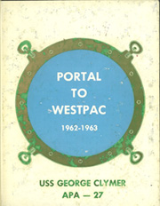 Page 1, 1963 Edition, George Clymer (APA 27) - Naval Cruise Book online yearbook collection