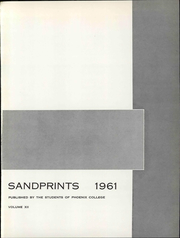 Page 7, 1961 Edition, Phoenix College - Sandprints Yearbook (Phoenix, AZ) online yearbook collection