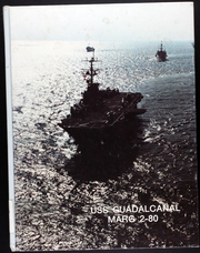 Page 1, 1980 Edition, Guadalcanal (LPH 7) - Naval Cruise Book online yearbook collection