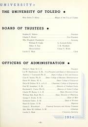 Page 17, 1934 Edition, University of Toledo - Blockhouse Yearbook (Toledo, OH) online yearbook collection