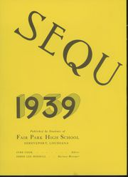 Page 6, 1939 Edition, Fair Park High School - Sequoyah Yearbook (Shreveport, LA) online yearbook collection