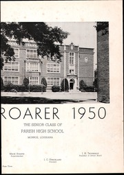 Page 7, 1950 Edition, Ouachita Parish High School - Roarer Yearbook (Monroe, LA) online yearbook collection